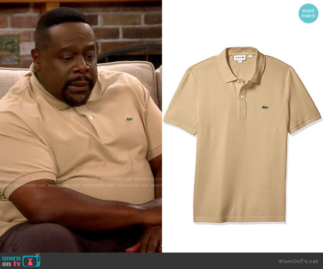 Lacoste Viennese Classic Polo Shirt worn by Calvin (Cedric The Entertainer) on The Neighborhood