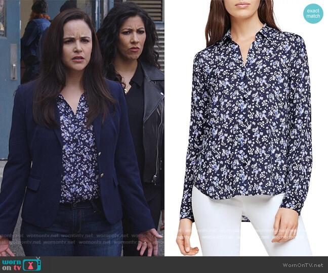 Holly Printed Floral Blouse by L'Agence worn by Amy Santiago (Melissa Fumero) on Brooklyn Nine-Nine