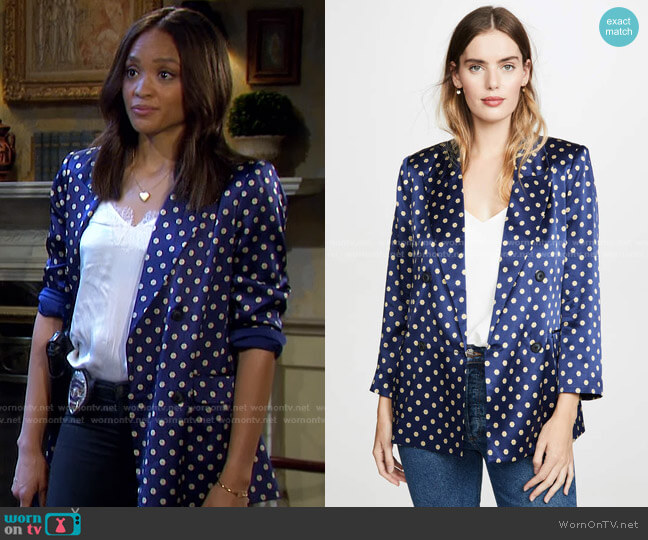 Taryn Double Breasted Blazer by L'Agence worn by Lani Price (Sal Stowers) on Days of our Lives