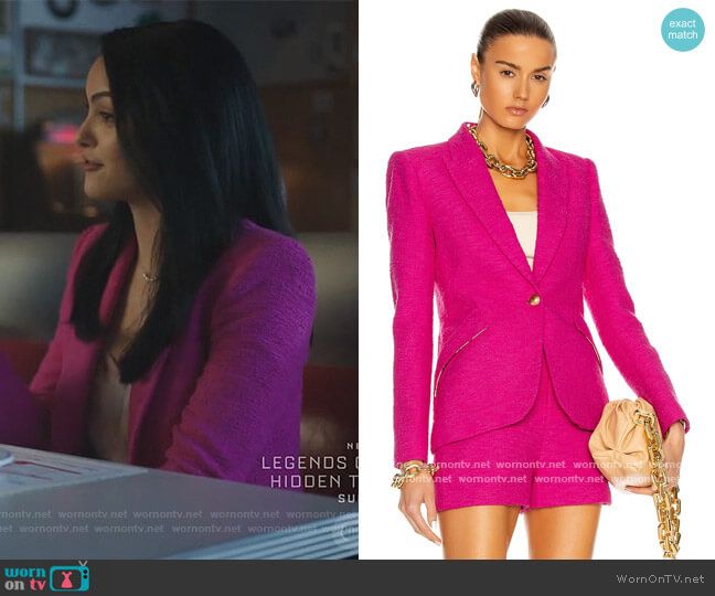 Chamberlain Blazer by L'Agence worn by Veronica Lodge (Camila Mendes) on Riverdale