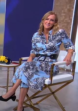 Lara's light blue printed shirtdress on Good Morning America