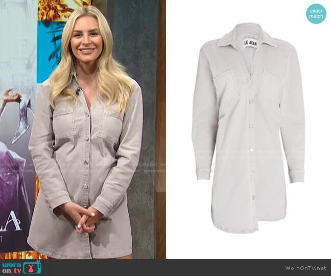 Eliza Denim Mini Shirt Dress by Le Jean worn by Morgan Stewart  on E! News