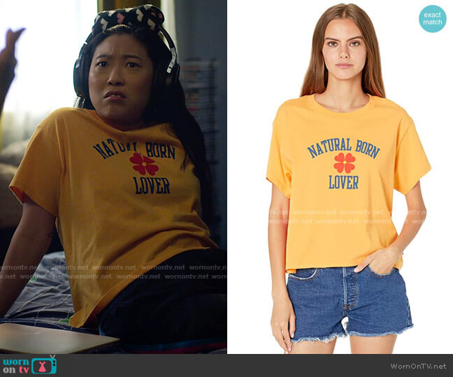 Levis Graphic Varsity Tee worn by Nora Lum (Awkwafina) on Awkwafina is Nora From Queens