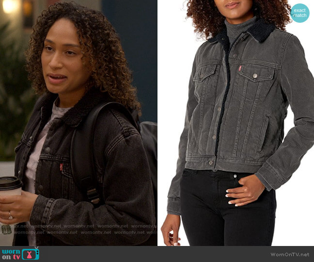 Levis Ex-Boyfriend Sherpa Trucker Jackets worn by Sophie Suarez (Rosanny Zayas) on The L Word Generation Q