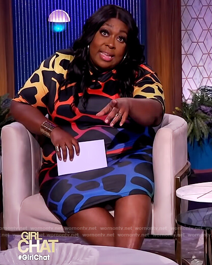 Loni's multi colored printed dress on The Real