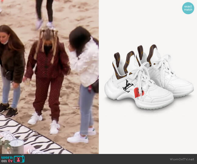 Game On LV Archlight Sneaker by Louis Vuitton worn by Dorit Kemsley  on The Real Housewives of Beverly Hills
