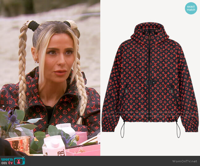 Water Repellent Sporty Hooded Parka by Louis Vuitton worn by Dorit Kemsley  on The Real Housewives of Beverly Hills