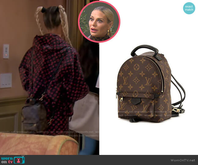 Palm Springs Mini Backpack by Louis Vuitton worn by Dorit Kemsley  on The Real Housewives of Beverly Hills