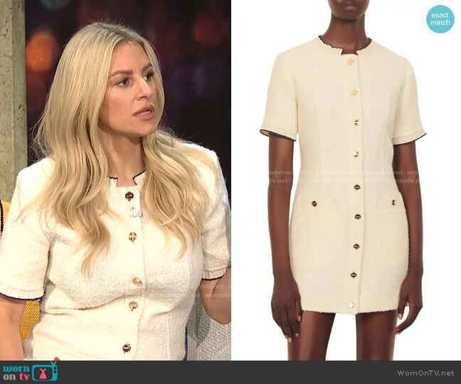 Molly Patch Pocket Dress by Sandro worn by Morgan Stewart  on E! News