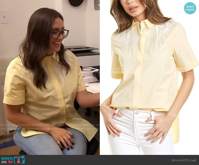 Civers Shirt by Maje worn by Savannah Sellers  on Today