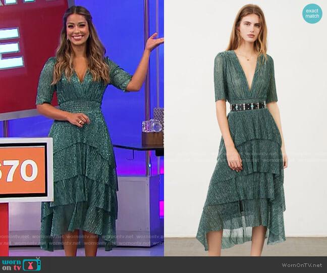 Maje Ruffine Dress worn by Manuela Arbeláez  on The Price is Right