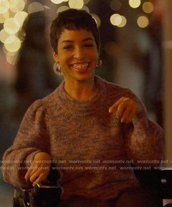 Maribel's marled sweater on The L Word Generation Q