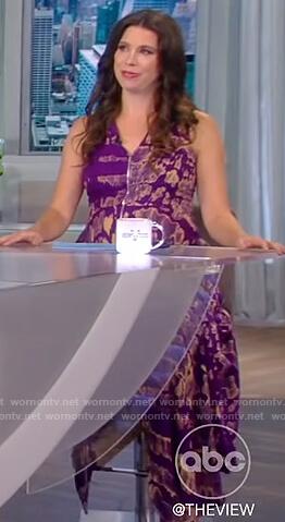 Mary Katharine Ham's purple printed dress on The View