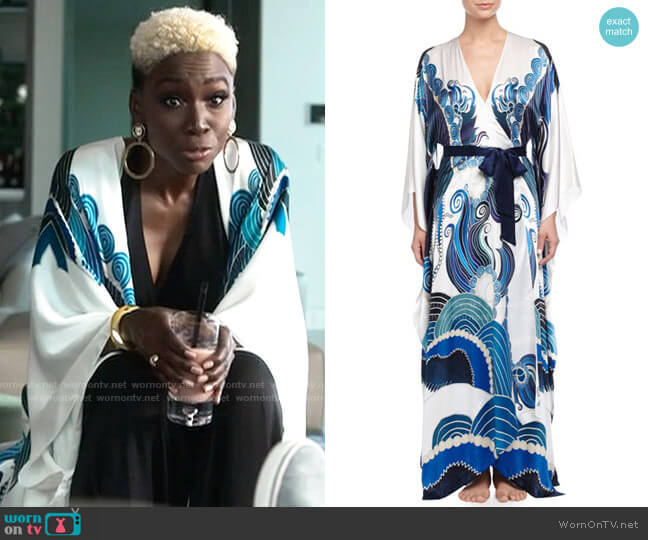Meng Zod Printed Long Robe worn by The Chemist (Angelica Ross) on American Horror Story