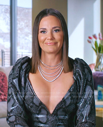 Meredith's checker board blazer on The Real Housewives of Salt Lake City