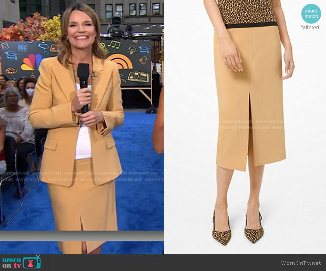 Stretch Crepe Slit Pencil Skirt by Michael Kors worn by Savannah Guthrie  on Today