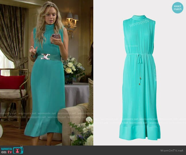 Milly Melina Dress worn by Abby Newman (Melissa Ordway) on The Young & the Restless