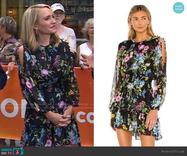 Callae Dress by Misa Los Angeles worn by Andrea Canning on Today