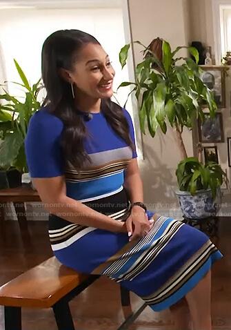 Morgan Radford's blue striped dress on Today