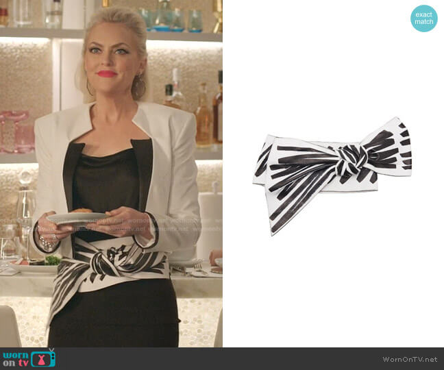 Bow Belt by Moschino worn by Alexis Carrington (Elaine Hendrix) on Dynasty
