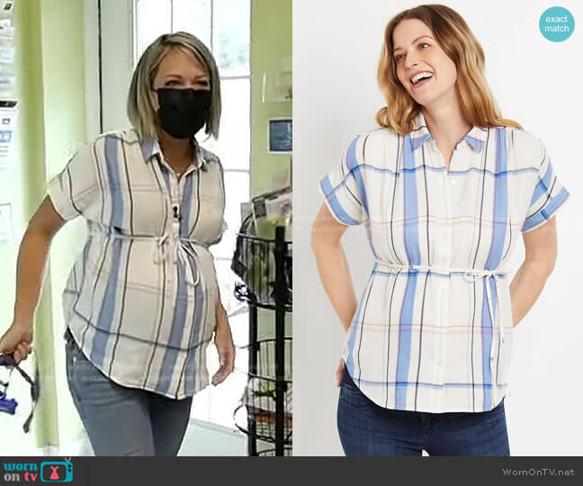 Button Front Maternity Blouse by Motherhood Maternity worn by Dylan Dreyer  on Today