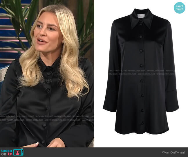 Gabi Shirt Dress by Nanushka worn by Morgan Stewart  on E! News
