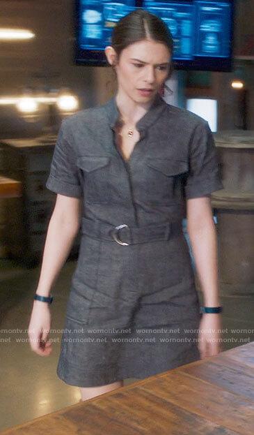 Nia's chambray shirtdress on Supergirl