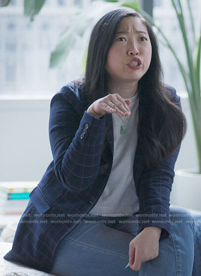Nora's camel coat on Awkwafina is Nora From Queens