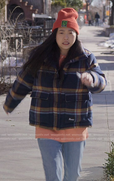 Nora's plaid jacket on Awkwafina is Nora From Queens