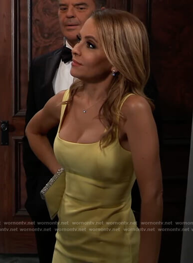 Olivia's yellow sleeveless gown on General Hospital