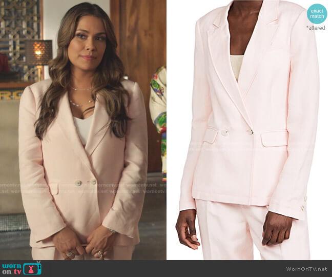Dawson Blazer by Paige worn by Cristal Jennings (Daniella Alonso) on Dynasty