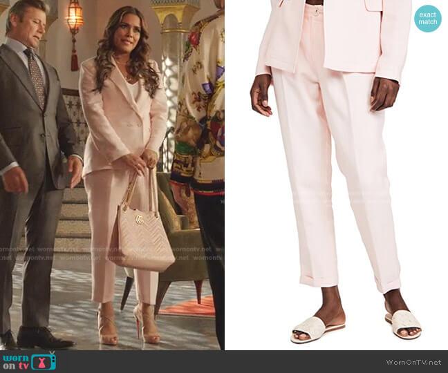 Leema Pants by Paige worn by Cristal Jennings (Daniella Alonso) on Dynasty