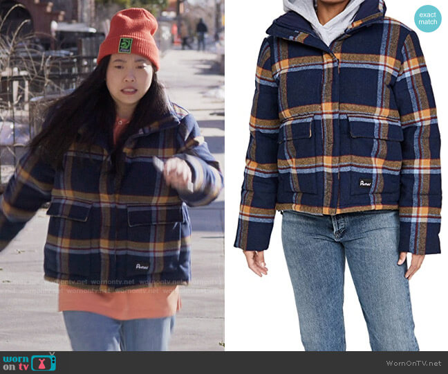 Penfield Wyeford Check Jacket worn by Nora Lum (Awkwafina) on Awkwafina is Nora From Queens