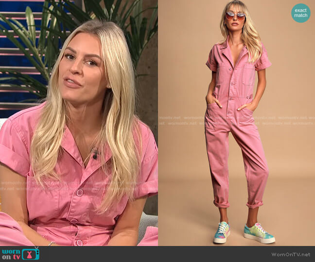 Grover Jumpsuit by Pistola worn by Morgan Stewart  on E! News