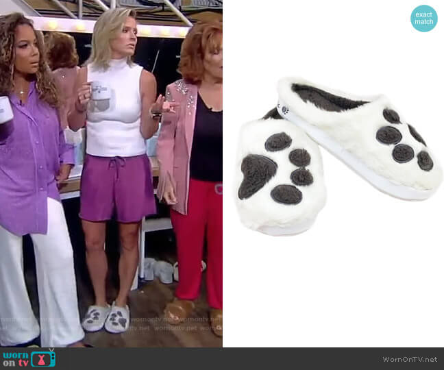 Paw Print Slippers by PupLife worn by Sara Haines  on The View