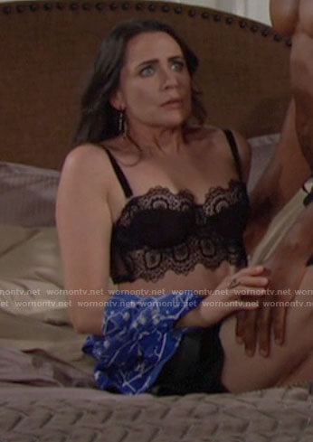 Quinn's black lace bra on The Bold and the Beautiful