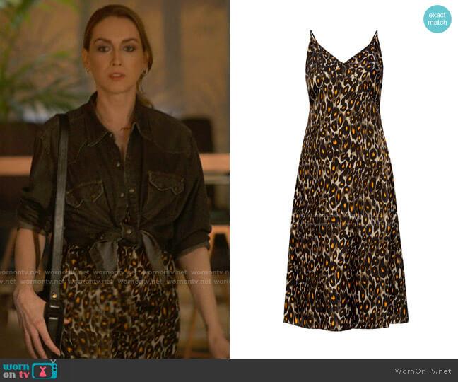 R13 Leopard Printed Dress worn by Tess Van De Berg (Jamie Clayton) on The L Word Generation Q