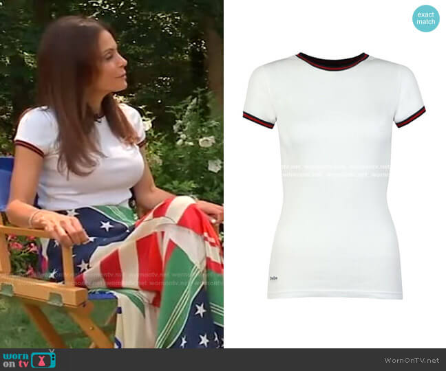 Ribbed Ringer T-Shirt by Ralph Lauren worn by Bethenny Frankel on Live with Kelly and Ryan