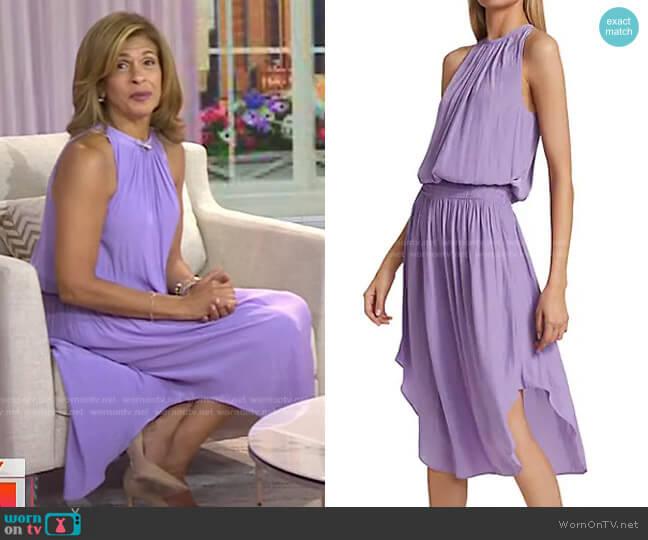 Audrey Blouson Midi Dress by Ramy Brook worn by Hoda Kotb  on Today