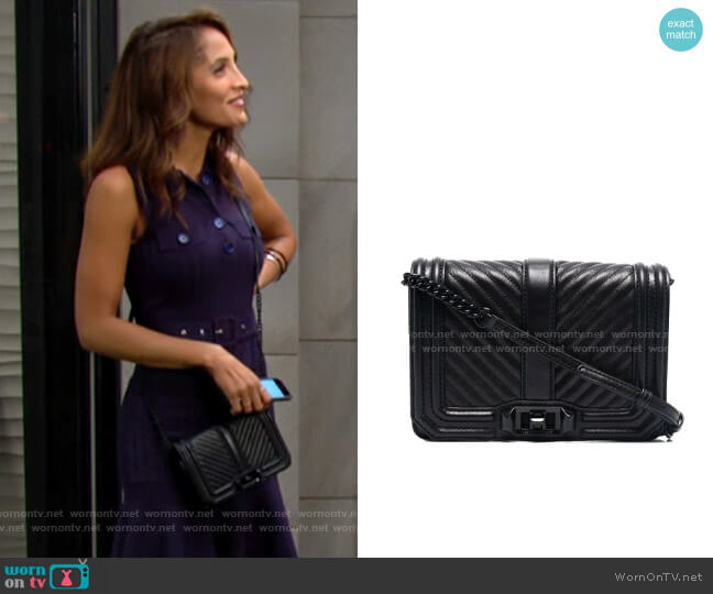 Rebecca Minkoff Chevron Quilted Small Love Bag worn by Lily Winters (Christel Khalil) on The Young & the Restless