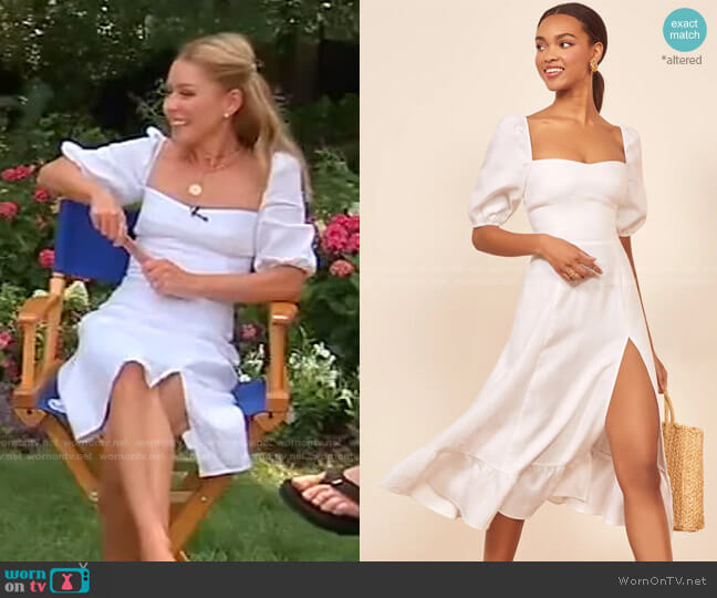 Belgium Linen Dress by Reformation worn by Kelly Ripa  on Live with Kelly & Ryan