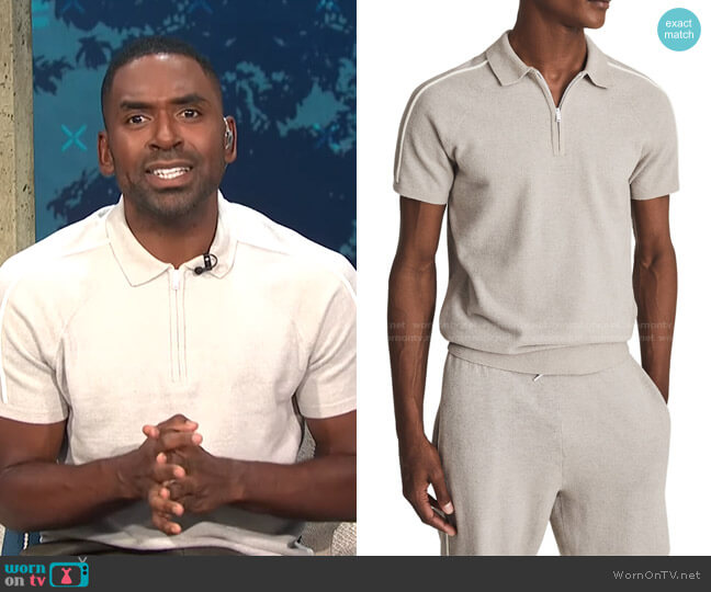 Gammo Short Sleeve Polo by Reiss worn by Justin Sylvester  on E! News