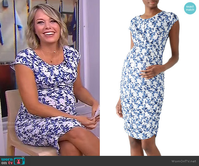 Heidi Cross Your Heart Maternity Dress by Ripe worn by Dylan Dreyer  on Today