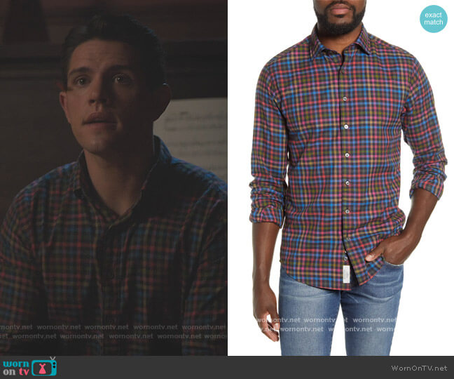 Evansdale Sports Fit Shirt by Rodd and Gunn worn by Casey Cott on Riverdale