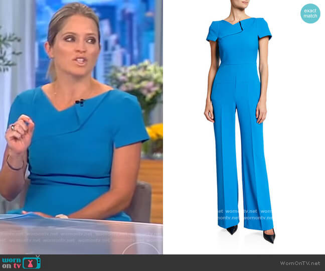 Pensthorpe Crepe Jumpsuit by Roland Mouret worn by Sara Haines  on The View