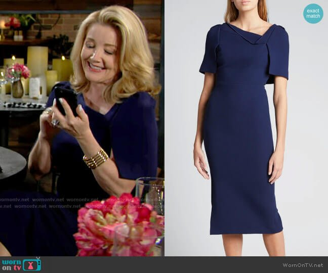 Roland Mouret Fenton Dress worn by Nikki Reed Newman (Melody Thomas-Scott) on The Young & the Restless