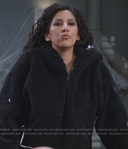 Rosa's black sherpa jacket on Brooklyn Nine-Nine