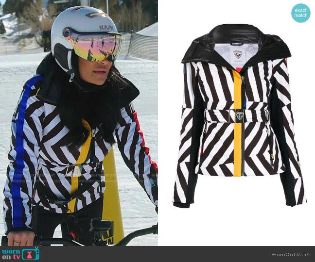 Castelbajac Print Skifi Ski Jacket by by Rossignol x Jcc worn by Jen Shah  on The Real Housewives of Salt Lake City