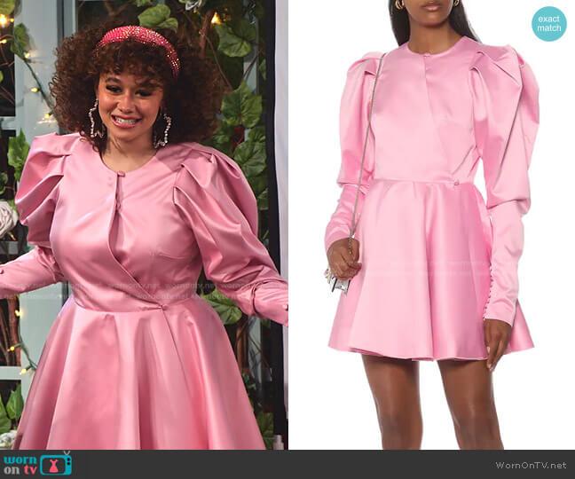 Pauline Satin Minidress by Rotate worn by Jade (Talia Jackson) on Family Reunion