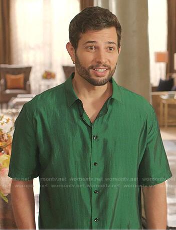 Sam's green short sleeve shirt on Dynasty